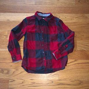 Boys small 6/7 cotton long sleeve shirt